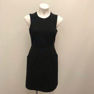 Theory black sleeveless work dress with pockets